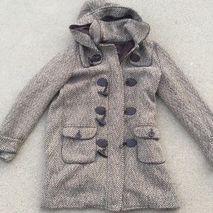 Forever 21 Sz. S hooded jacket with POCKETS!!